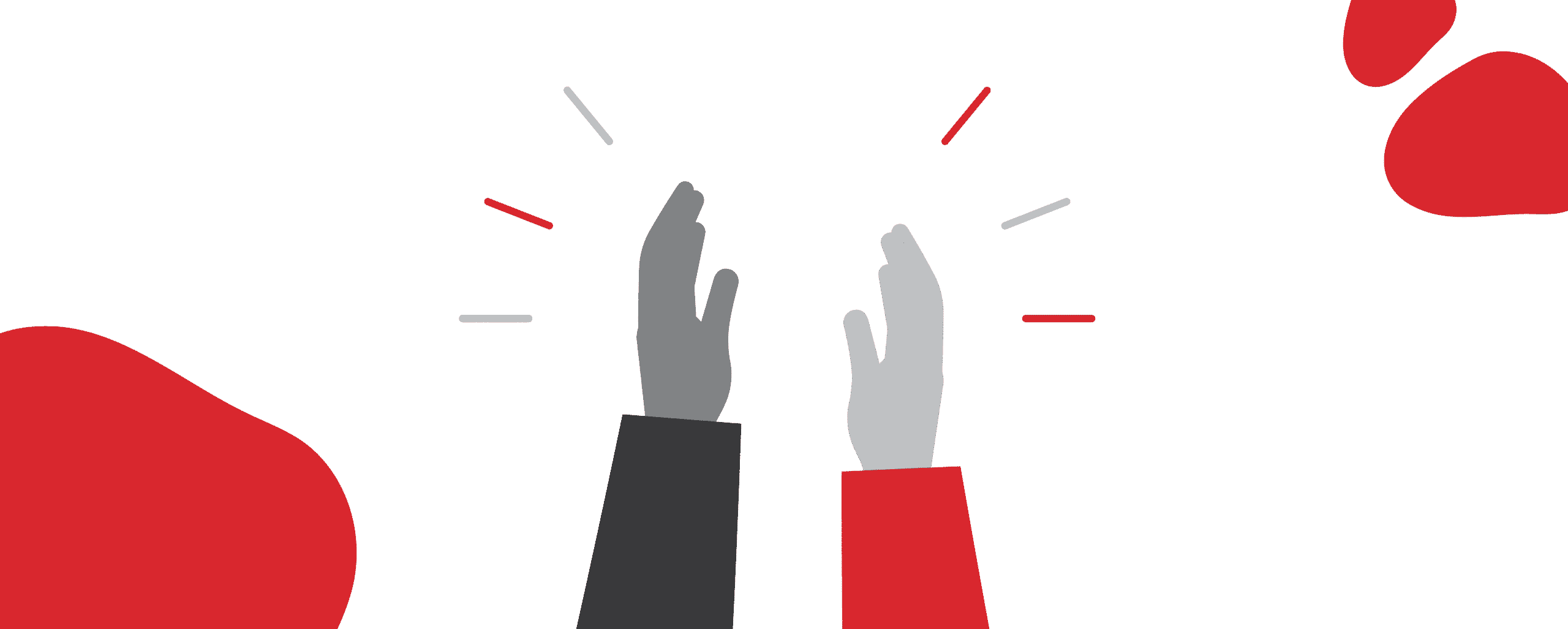Illustration of hands clapping.