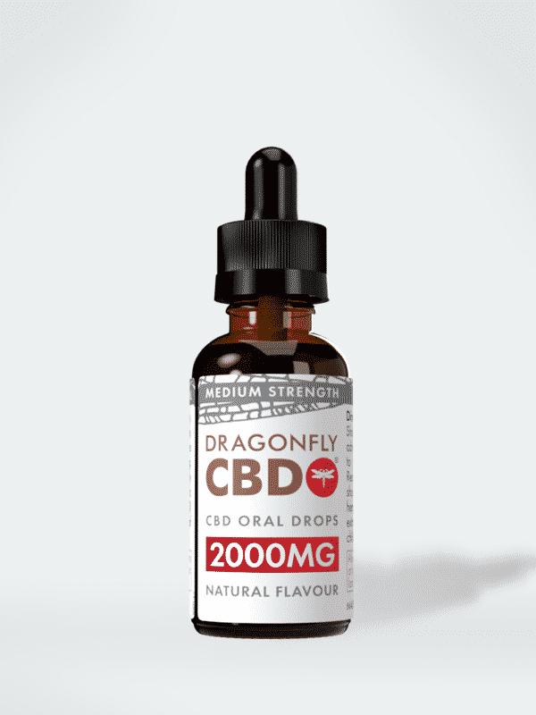 Narrow Spectrum Dragonfly CBD Oil (Larger Bottle) 2000mg, 30ml