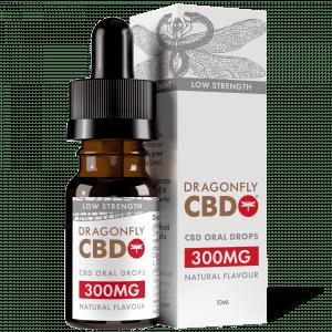 Dragonfly CBD 300mg 10ml Narrow Spectrum dropper bottle with box